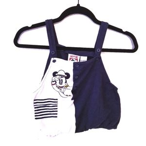 Vintage Mickey Mouse sailor baby romper 24M